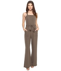 Adelyn Rae Sleeveless Jumpsuit Tie Waist Olive Women's Jumpsuit And Rompers One Piece