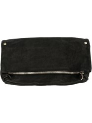 Guidi Zip Clutch Bag Black
