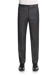 Theory Wool Trousers Charcoal
