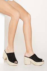 Forever 21 Faux Suede Espadrille Sandals