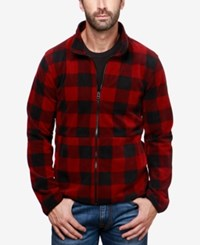 Lucky Brand Men's Buffalo Plaid Lined Shirt Jacket Red Multi