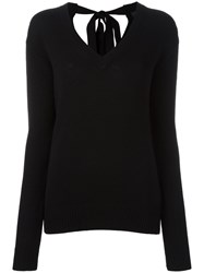 Joseph V Neck Jumper Black