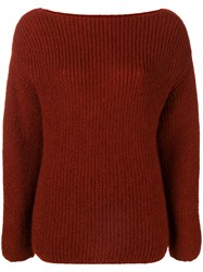 Forte Forte Round Neck Jumper Red