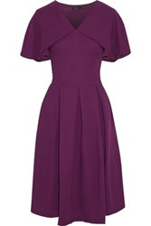 Raoul Layered Flared Pleated Crepe Dress Purple