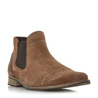 Dune Chili Blue Detail Chelsea Boots Light Brown