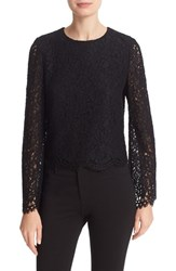 Alice Olivia Women's Pasha Lace Bell Sleeve Top