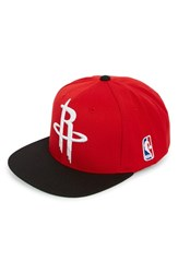Men's Mitchell And Ness 'Houston Rockets Xl Logo' Snapback Cap Red Red Black