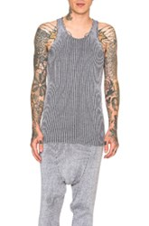 Baja East Stretch Cotton Plated Rib Tank In Gray