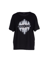 Surface To Air T Shirts Black