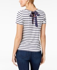 Maison Jules Striped T Shirt Created For Macy's Cloud Combo