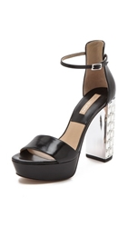 Michael Kors Collection Nikki Jeweled Heel Sandals Black