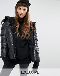 Puffa Oversized Padded Jacket Black
