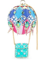 Manish Arora Embellished Clutch Bag Blue