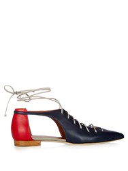 Malone Souliers Montana Lace Up Leather Flats