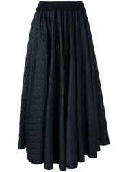 Jean Paul Gaultier Vintage Quilted A Line Skirt Black