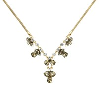 Monet Gold Champagne Drops Statement Necklace Gold