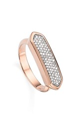 Women's Monica Vinader 'Baja' Pave Diamond Ring Rose Gold Diamond
