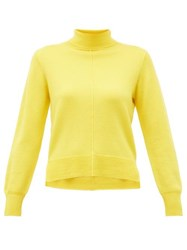 Sea Nora Side Slit Roll Neck Wool Sweater Yellow