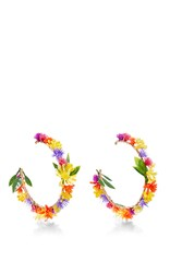 Mercedes Salazar Fiesta Flower Earrings Multi