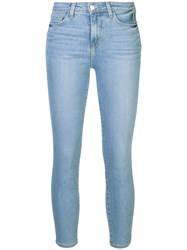 L'agence Margot Cropped Jeans Blue
