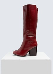 Rachel Comey 'S Zim Boot In Bordo Size 6 Knee High Boot In Soft Kidskin Leather Pointed Toe Padded Leather Footbed With Emb