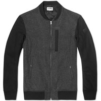 Edwin Baller Bomber Jacket Dark Grey And Black