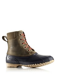 Sorel Cheyanne Full Grain Leather Duck Boots Sage