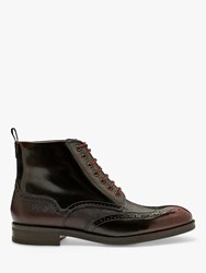 Ted Baker Twrehs Leather Brogue Boots Red