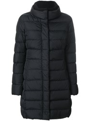 Herno Elasticated Waistband Padded Coat Women Cotton Polyamide Feather Goose Down 46 Black