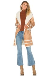 Somedays Lovin Meet Me In Utah Coat With Faux Sherpa Lining Tan