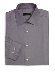 Ike Behar Regular Fit Pinstriped Dress Shirt Violet