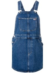 Tommy Jeans Rigid Denim Dungaree Dress Blue