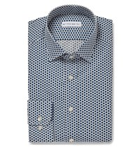Etro Polka Dot Cotton Shirt Blue