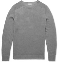 Margaret Howell Linen And Cotton Blend Sweater Gray