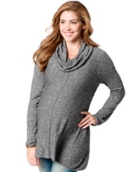 Motherhood Maternity Cowl Neck Sweater Black Marl