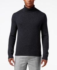 Michael Kors Men's Textured Cashmere Turtleneck Charcoal Melange