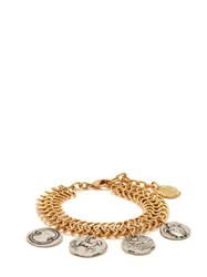Ancient Greek Sandals Charm Embellished Chain Anklet Gold