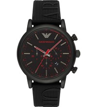 Emporio Armani Ar11024 Stainless Steel And Silicone Watch
