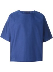 Etudes Studio Boxy Fit T Shirt Blue