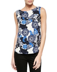 Cooper And Ella Anna Lace Print Cap Sleeve Blouse