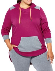Activezone Plus Long Sleeve Hooded Pullover Raspberry