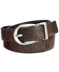 Styleandco. Style Co. Reversible Snake Embossed Skinny Belt Only At Macy's Black Brown