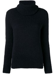 Blugirl Roll Neck Fitted Sweater Black