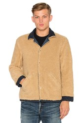 Simon Miller M701 Asahi Jacket With Faux Sherpa Lining Brown