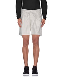 Messagerie Trousers Bermuda Shorts Men White