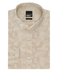 William Rast Slim Fit Camouflage Dress Shirt Beige