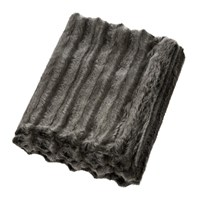 Helen Moore Faux Fur Throw 180X145cm Aspen