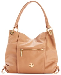 Giani Bernini Nappa Leather Collection Swagger Satchel Nut