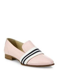 Rag And Bone Alfie Stripe Web Leather Loafers Pink White Black