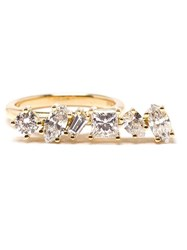 Kimberly Mcdonald Offset Bar Diamond Ring White